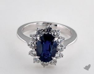 18K White Gold - 2.90ct  - Blue