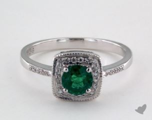 18K White Gold - 0.55ct  - Green
