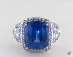 Platinum - 9.02ct  - Blue
