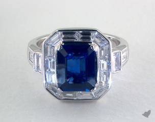 18K White Gold - 3.20ct  - Blue
