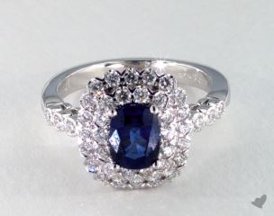 18K White Gold - 1.34ct  - Blue