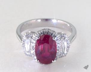 18K White Gold - 2.91ct  - Red