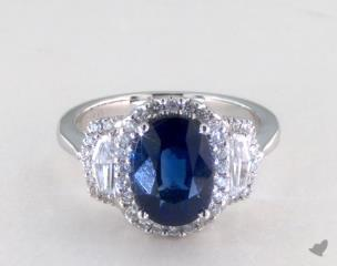 18K White Gold - 3.10ct  - Blue