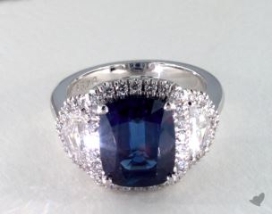 Platinum - 5.74ct  - Blue