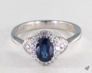 18K White Gold - 0.95ct  - Blue